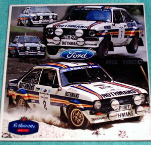 Ford Escort RS1800 Mexico Rothmans Limited Edt. CERAMIC TILE from portugal