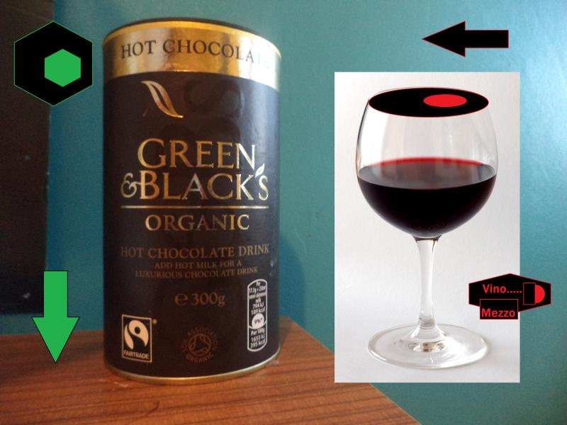 green and black vino