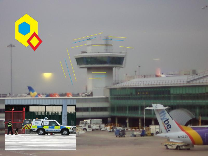 manchester middle airport police