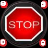 stop traffic light logo white dots