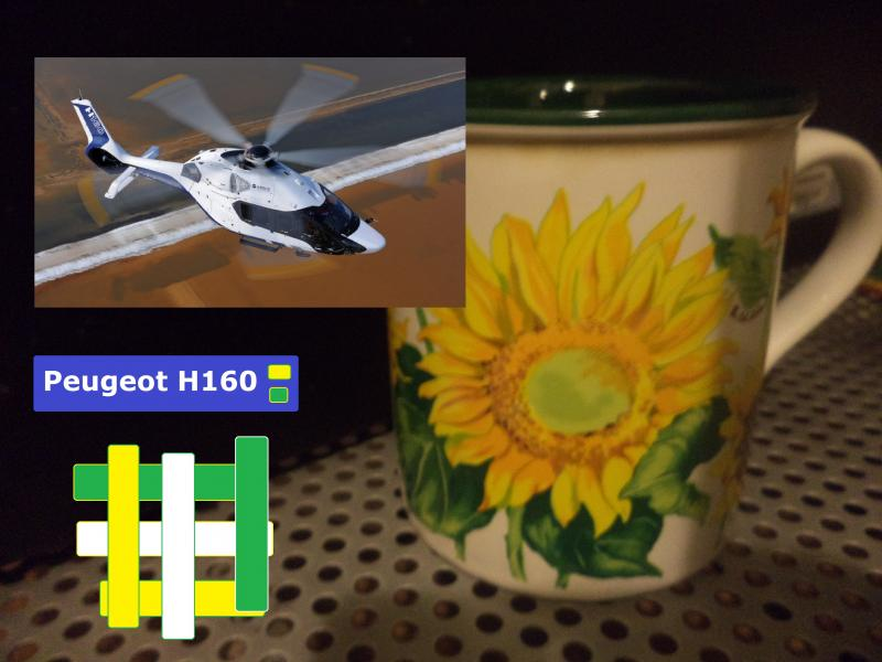 sunflower peugeot helicopter h160